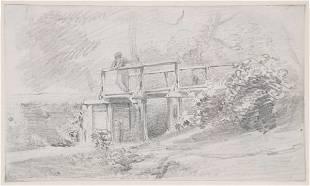 John Constable R.A. (1776-1837) Bridge over a trib