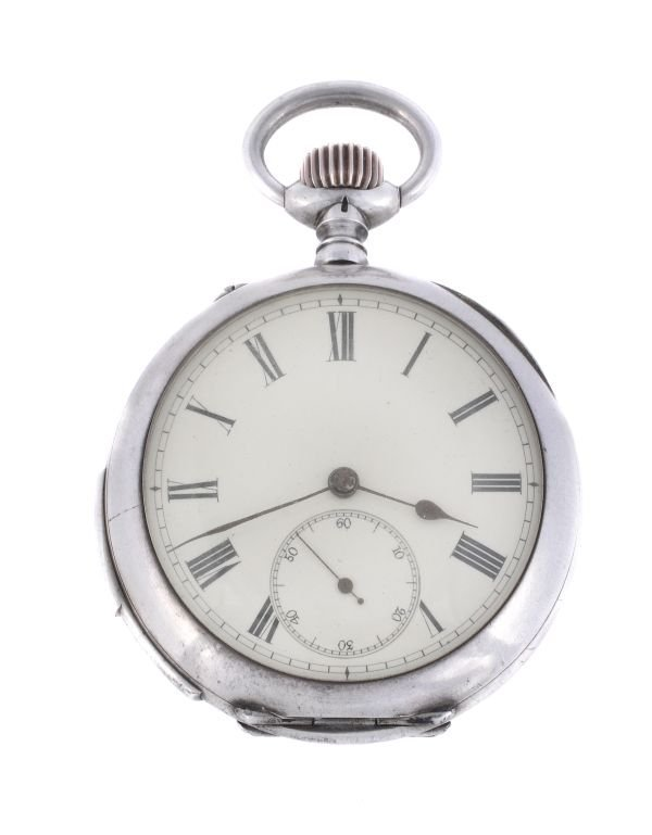 A Swiss silver openface quarter repeating pocket w