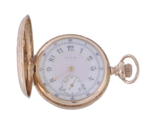 Elgin, a 14 carat gold fob watch,  circa 1908, no.