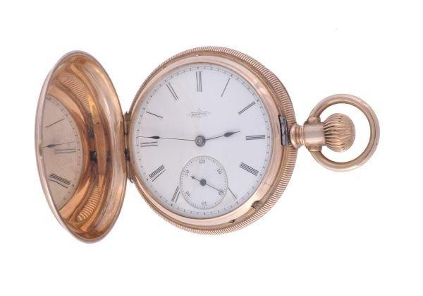 Elgin, a 14 carat gold small hunter pocket watch,