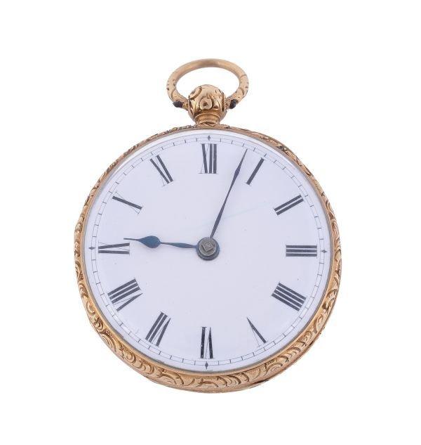 Gowland, an 18 carat gold openface pocket watch,