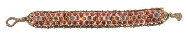A late 19th/early 20th century Jaipur enamel, ruby