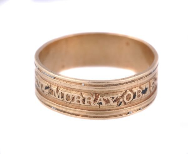 A George III gold mourning ring dedicated to the H