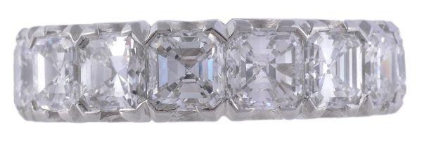 A diamond set full eternity ring,  set all around