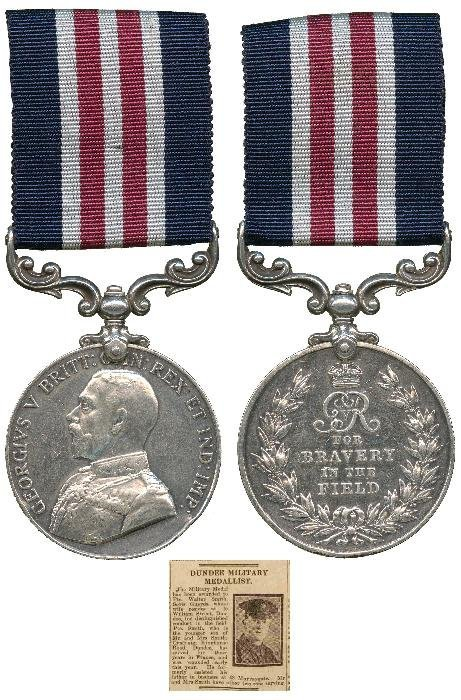 MILITARY MEDAL, GVR (15072 Pte W. Smith 2/S. Gds.)