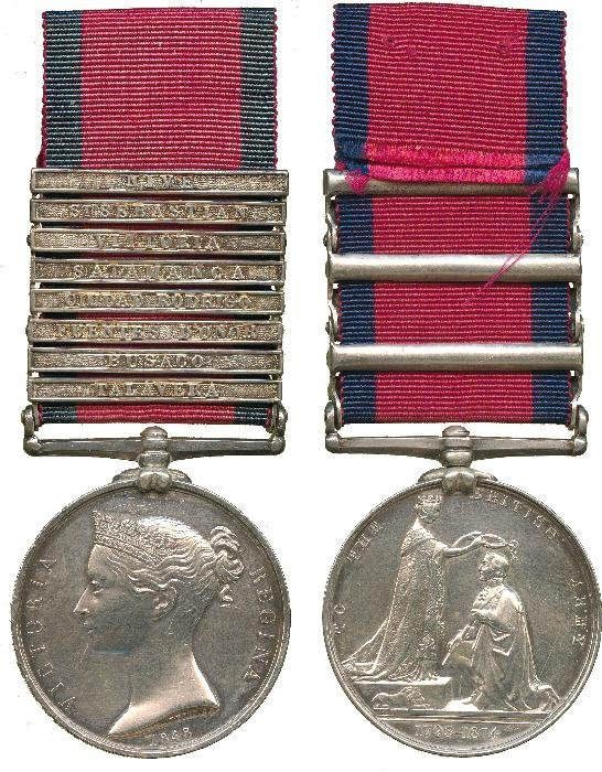 MILITARY GENERAL SERVICE MEDAL, 1793-1814, 8 clasp