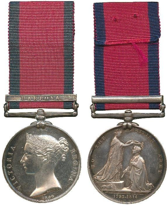 MILITARY GENERAL SERVICE MEDAL, 1793-1814, single