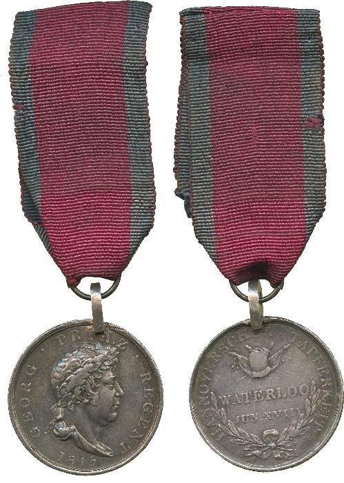 HANOVERIAN WATERLOO MEDAL, 1815, with contemporary