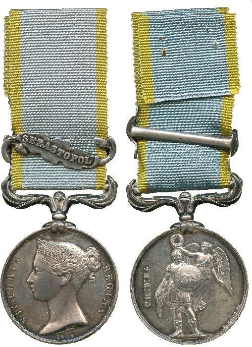 CRIMEA MEDAL, 1854-58, single clasp, Sebastopol (G