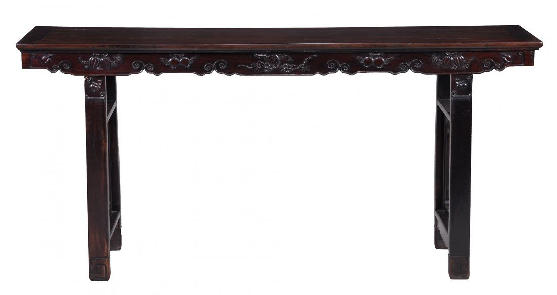 A Chinese rosewood altar table, 19th century
