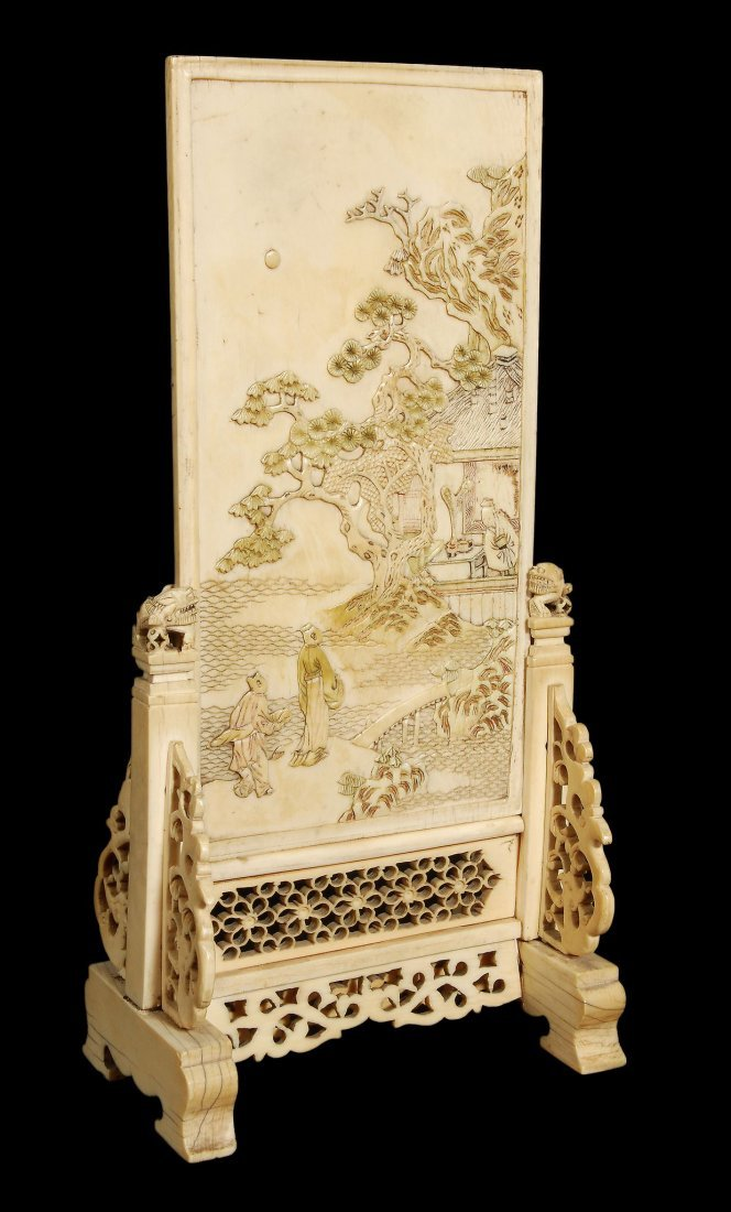 A Chinese table screen for the scholar's desk, 17t