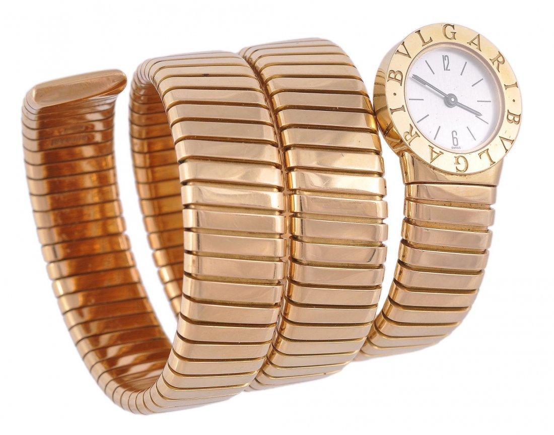Bulgari, Tubogas, a lady's 18 carat gold wristwatc