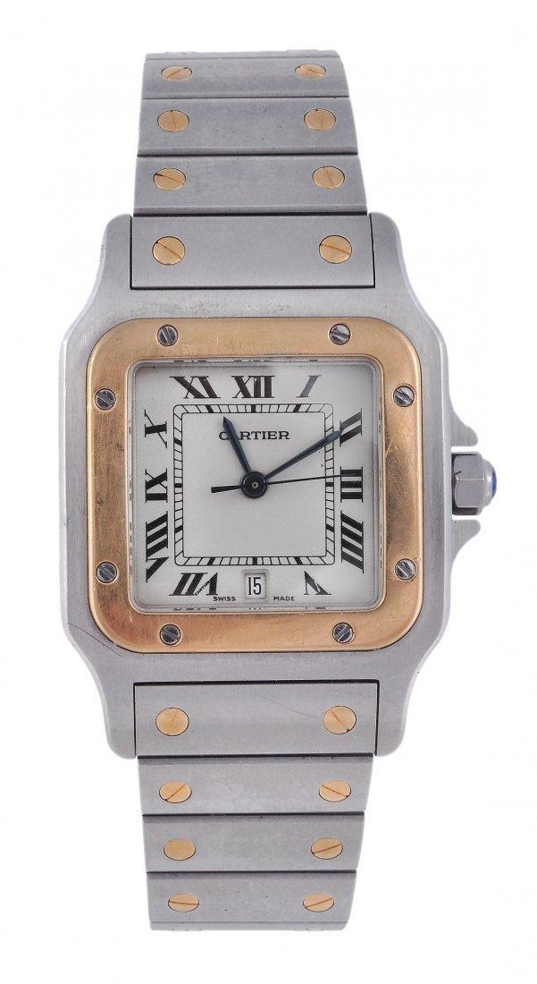 *Cartier, Santos, a midi two colour bracelet wrist