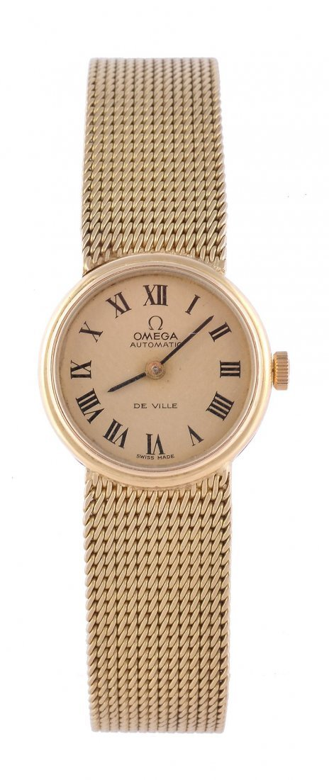 Omega, De Ville, a lady's 18 carat gold wristwatch