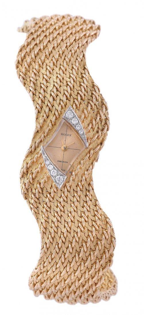 Rolex, Precision, a lady's 18 carat gold wristwatc