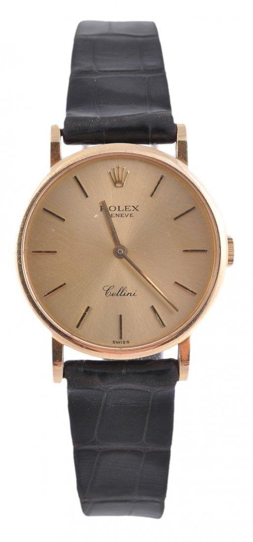 *Rolex, Cellini, a lady's 18 carat gold wristwatch,