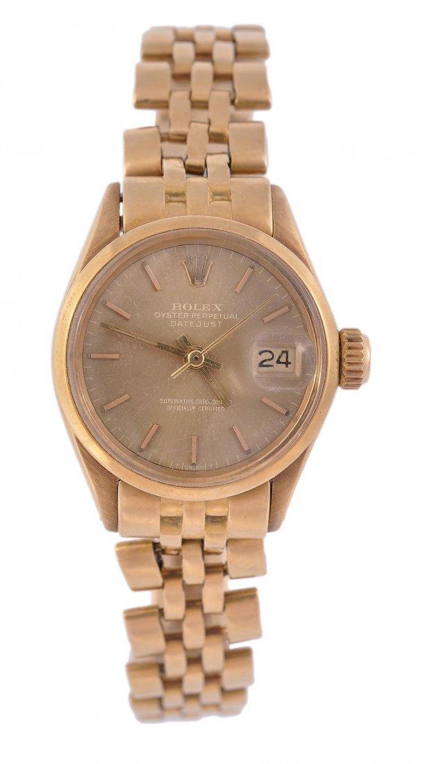 Rolex, Datejust, a lady's 18 carat gold wristwatch