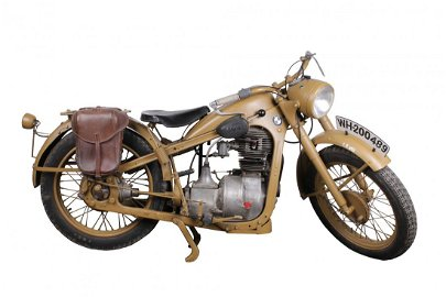 A Second World War German Army BMW R35 Motorcycle of