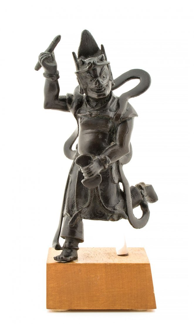 A Chinese bronze figure of Kuixing, The god of