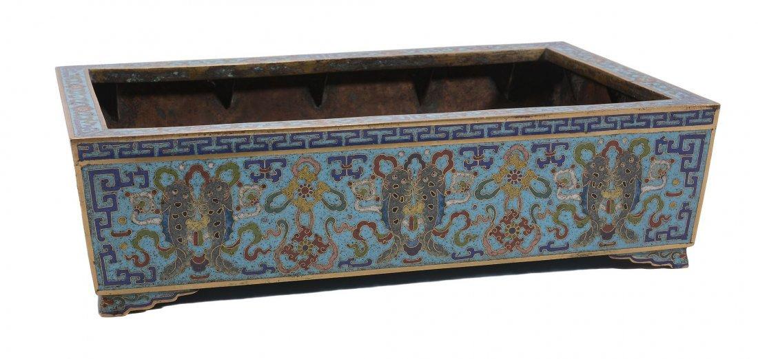 A cloisonne enamel jiardiniere , Qianlong period