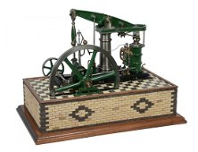 A well engineered model of a M.E. beam engine, built by