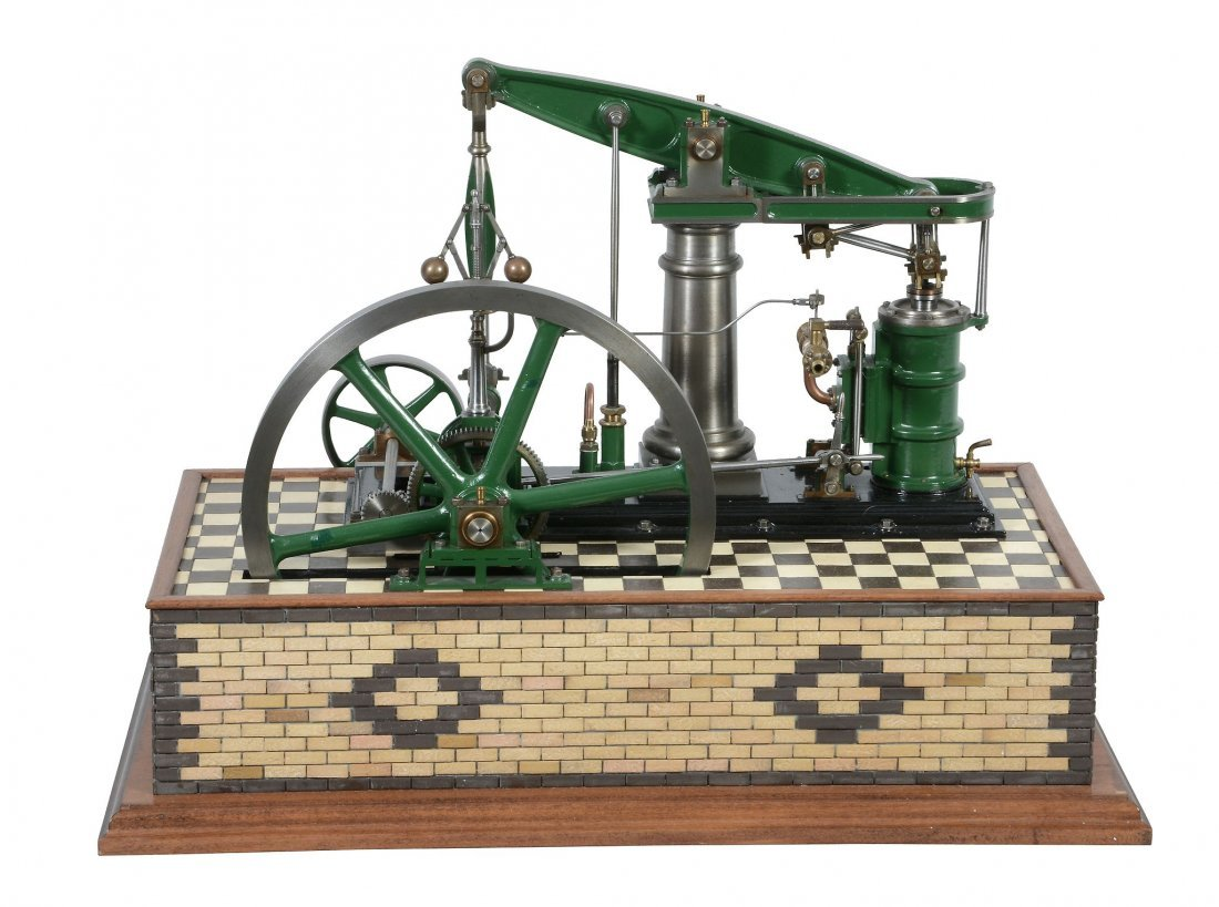 A well engineered model of a M.E. beam engine, built by - 2