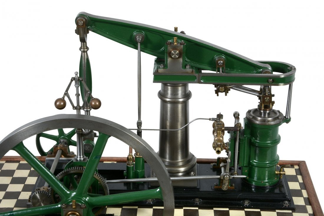 A well engineered model of a M.E. beam engine, built by - 3