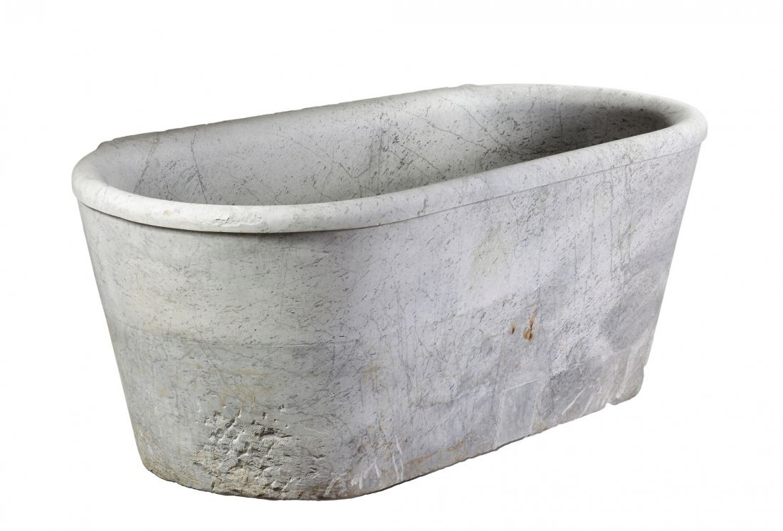 An Italian marble bath in the manner of Antique