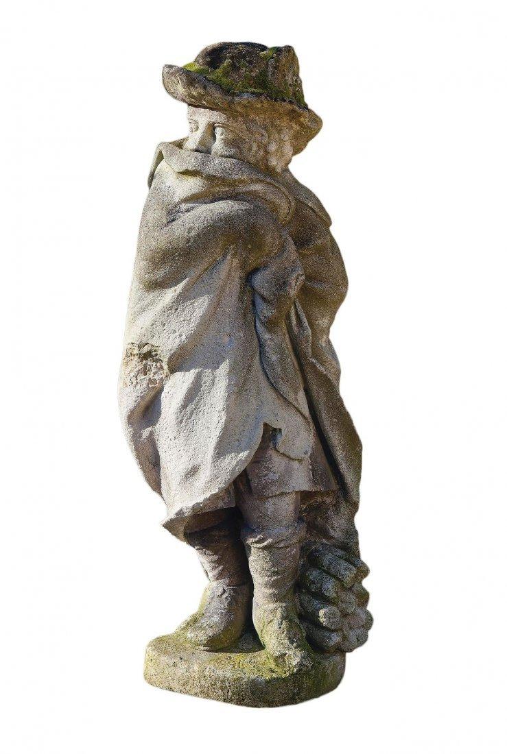 A sculpted limestone model of a boy allegorical of