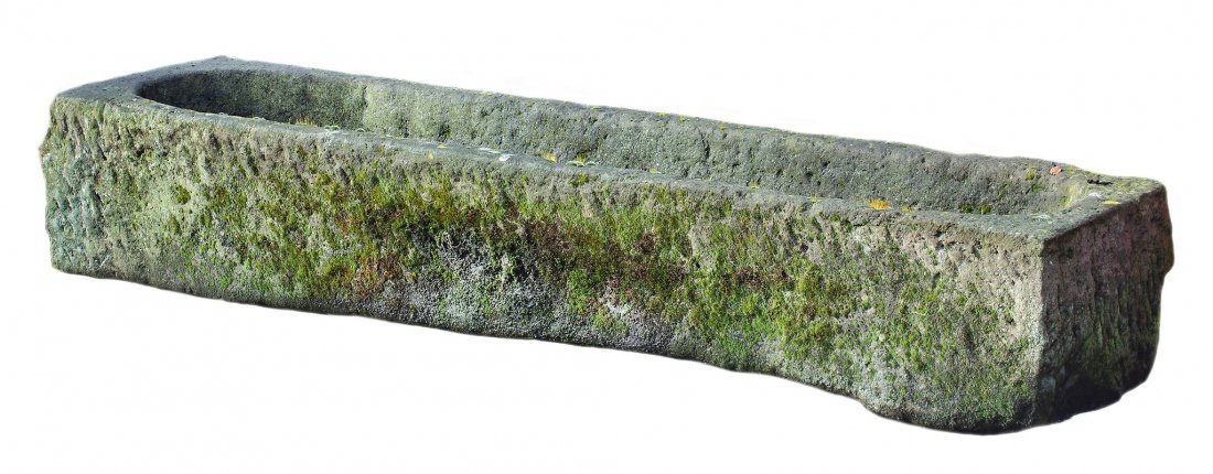 A Continental rough hewn limestone trough, 19th