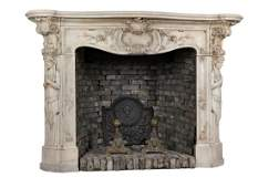 A very fine Continental sculpted white marble
