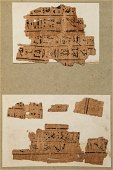 Fragments from an Egyptian Book of the Dead, - in
