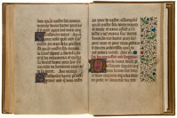 Book of Hours, - in Latin and French, illuminated