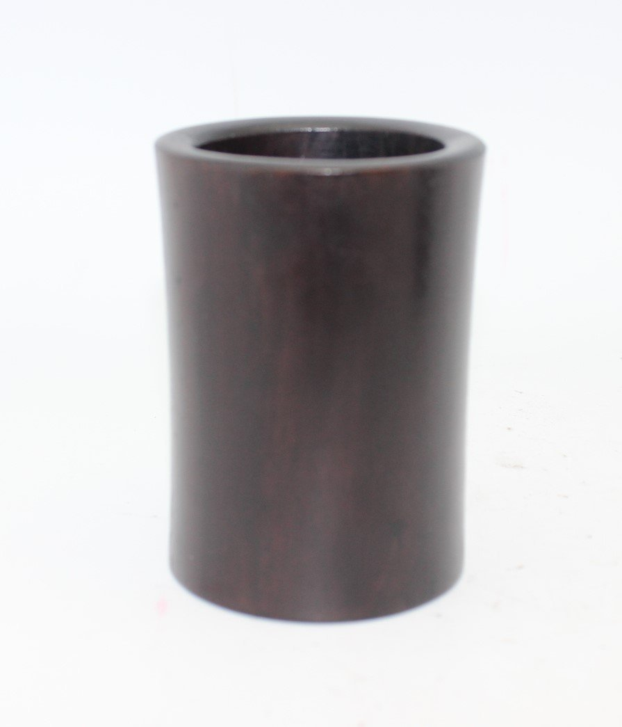2 HARD WOOD/ ZITAN? HUANG HUA LI? BRUSH POT - 4