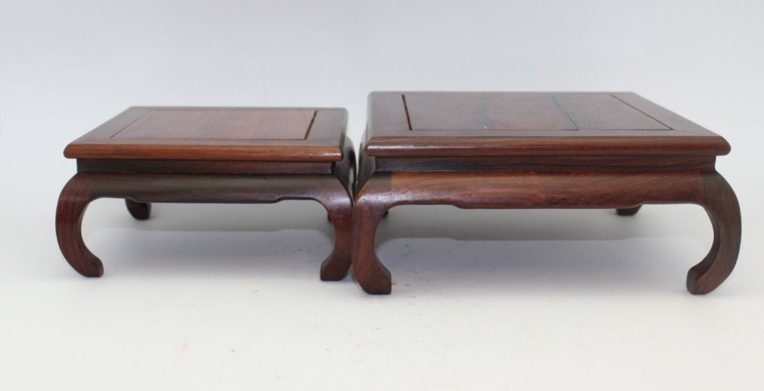 TWO ROSEWOOD STANDS