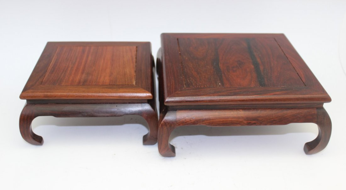 TWO ROSEWOOD STANDS - 2