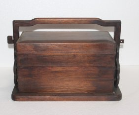 HARD WOOD LUNCH BOX