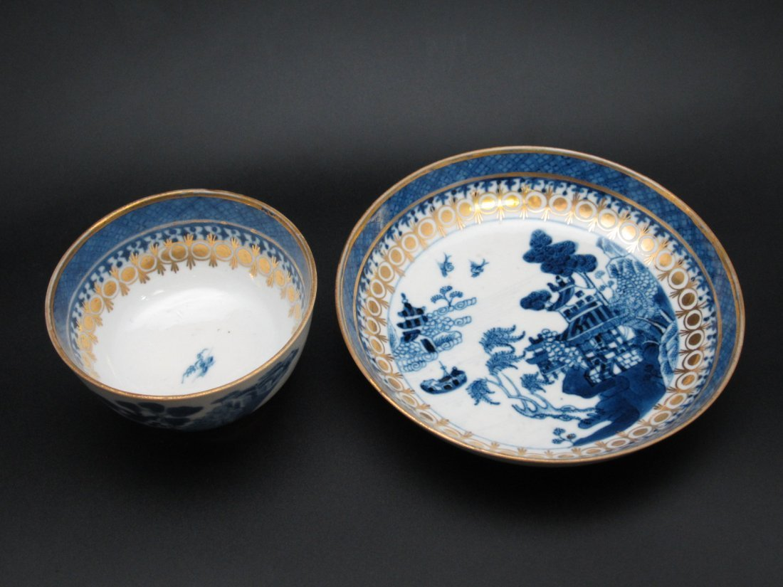3: Chinese Export Porcelain Bowl and Dish