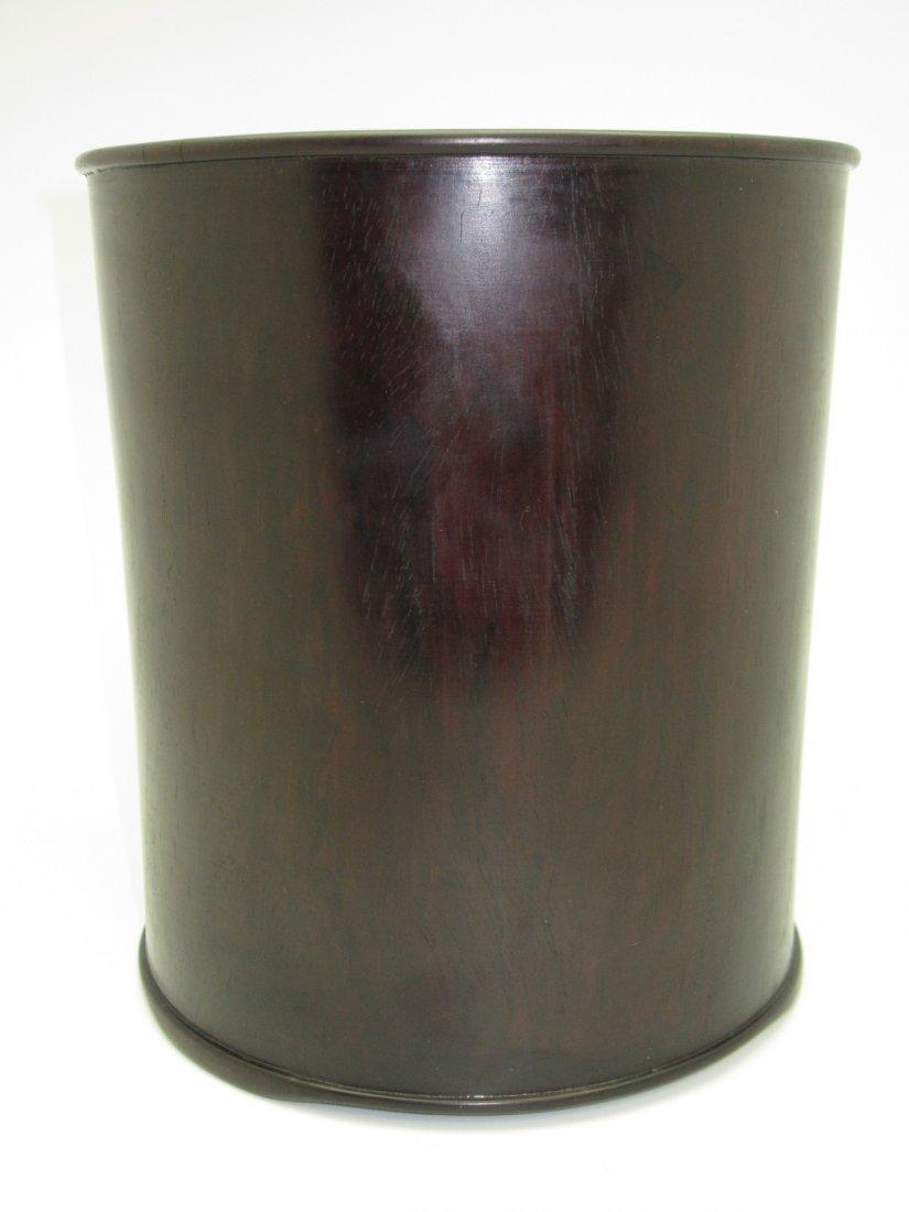 9: Chinese Hardwood Brushpot