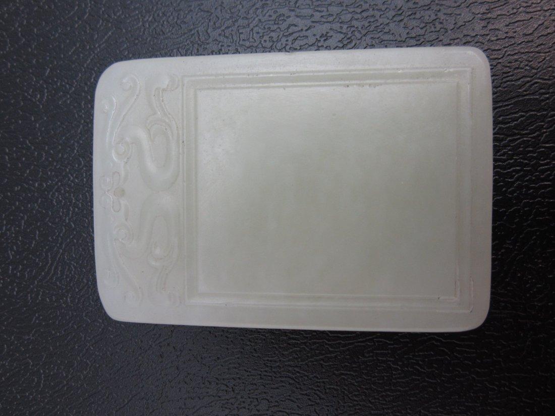 12: White Jade Plaque