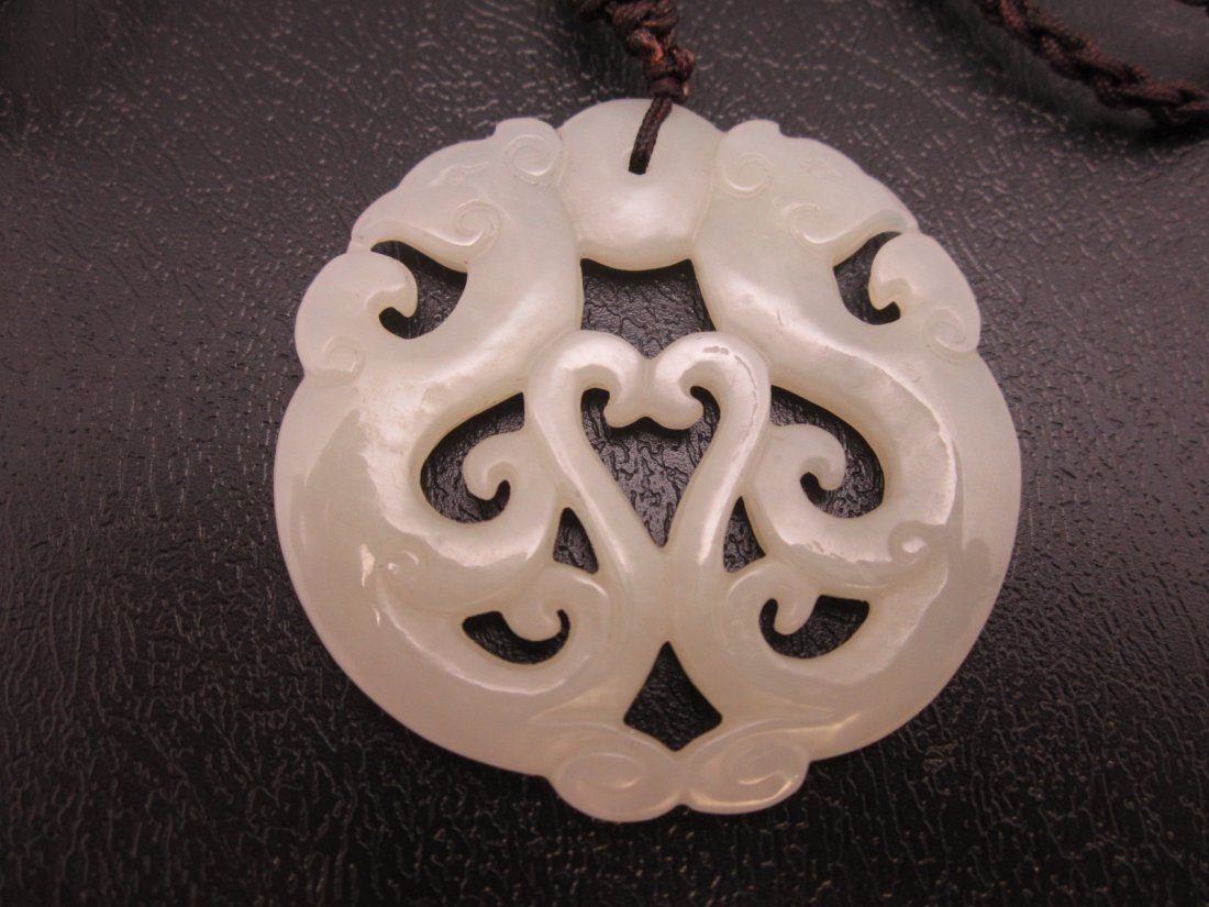 13: White Jade Pendant
