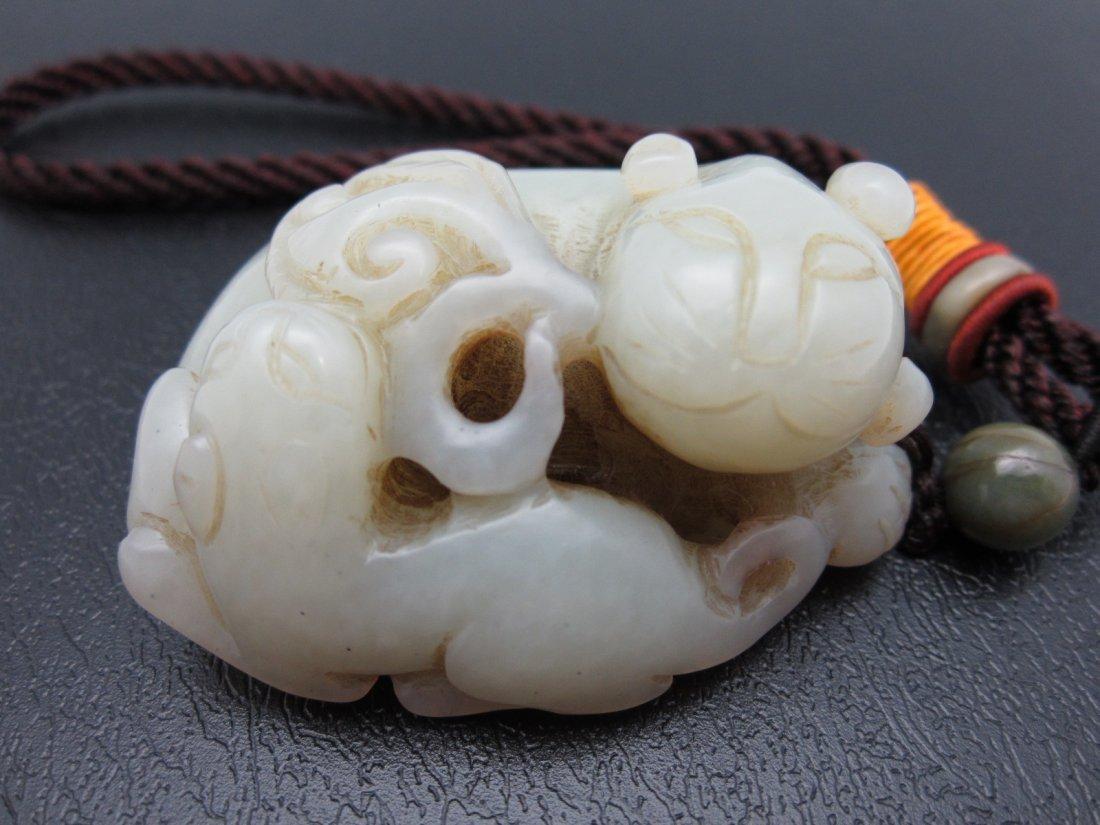15: White Jade Pendant