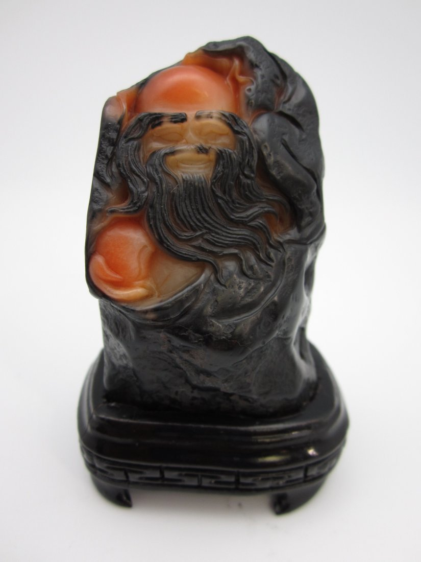 18: Soap Stone Figurine with Stand