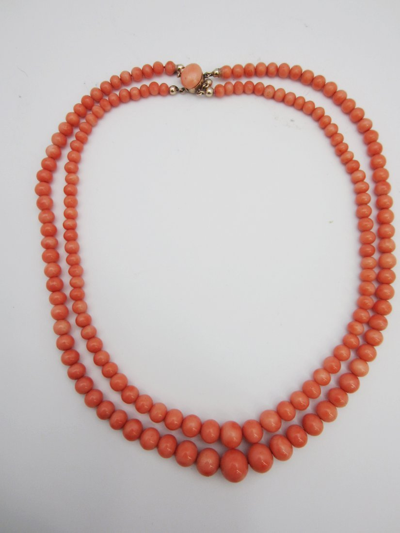 87: Pink Coral Necklace