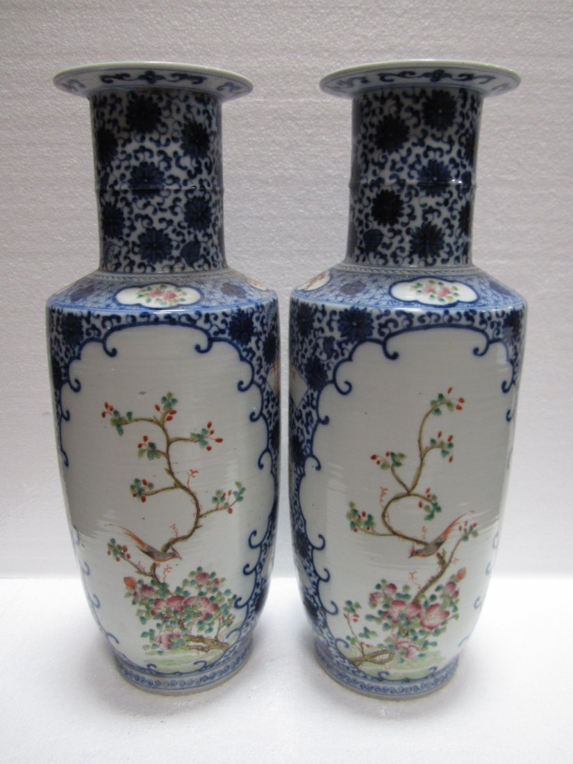 131: Pair of Chinese Porcelain Vases