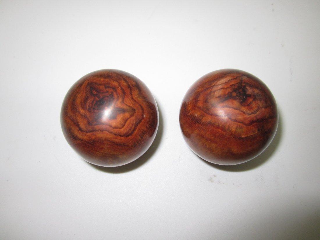 Pair of Huanghuali Balls