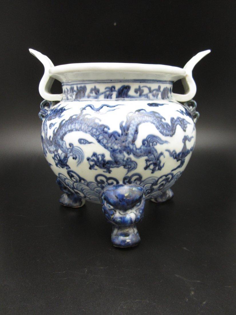 Blue and White Porcelain Incense Pot