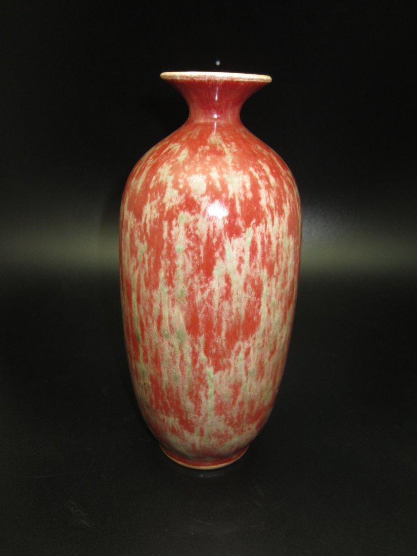 Copper Red Glazed Porcelain Vase