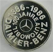 Silbermedaille 100 Jahre Daimler Benz Silber 1000 Gew