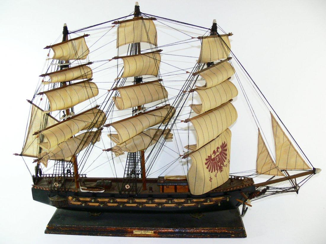 """"""" Fragata Espanola Anno 1780 """"Modellsegelschiff aus Hol"""